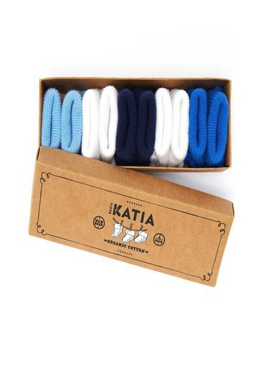 Katia & Bony Renkli Yenidoğan Organik 5 Li Bebek Çorap  Beyaz